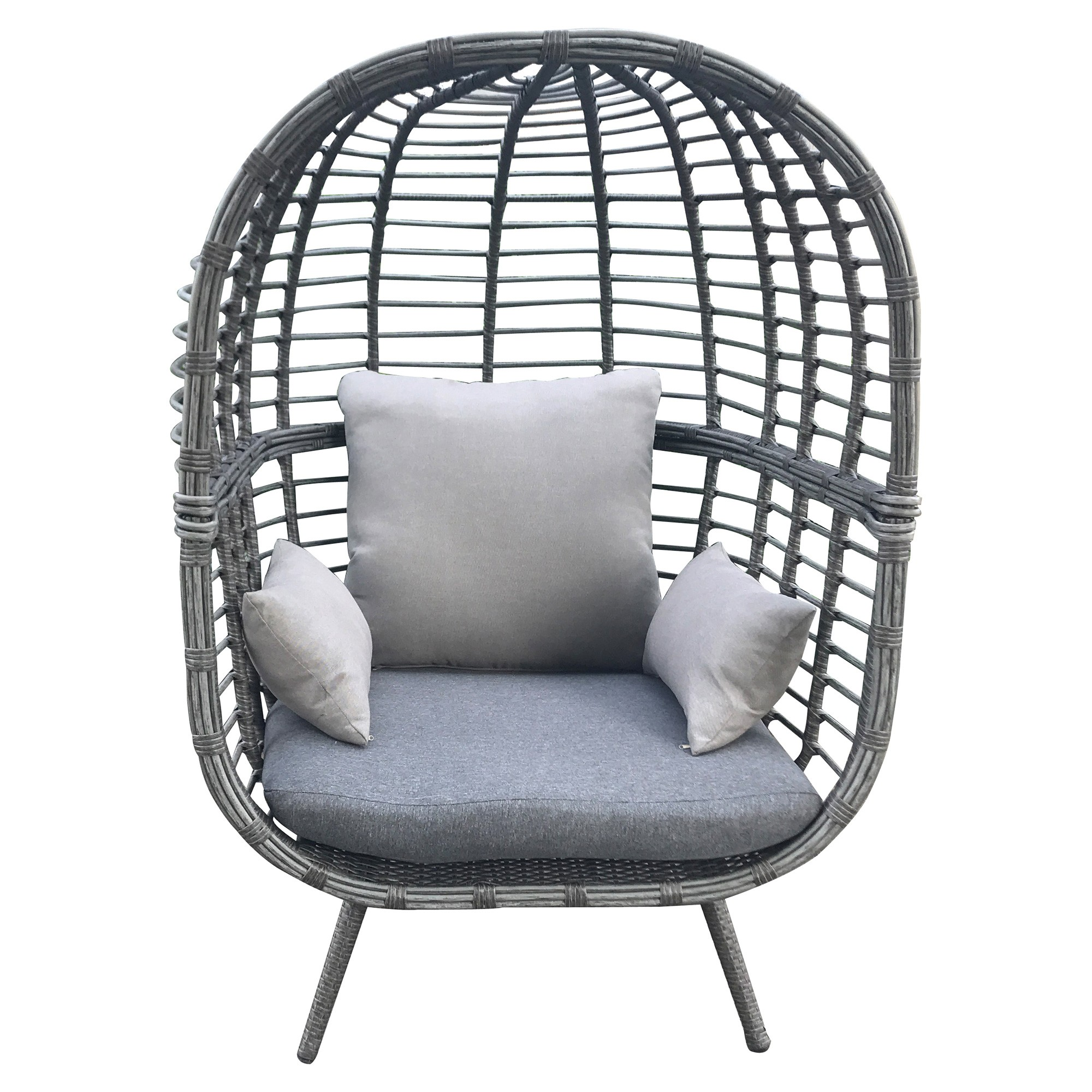 Hervey Rattan Outdoor Lounge Chair, Single