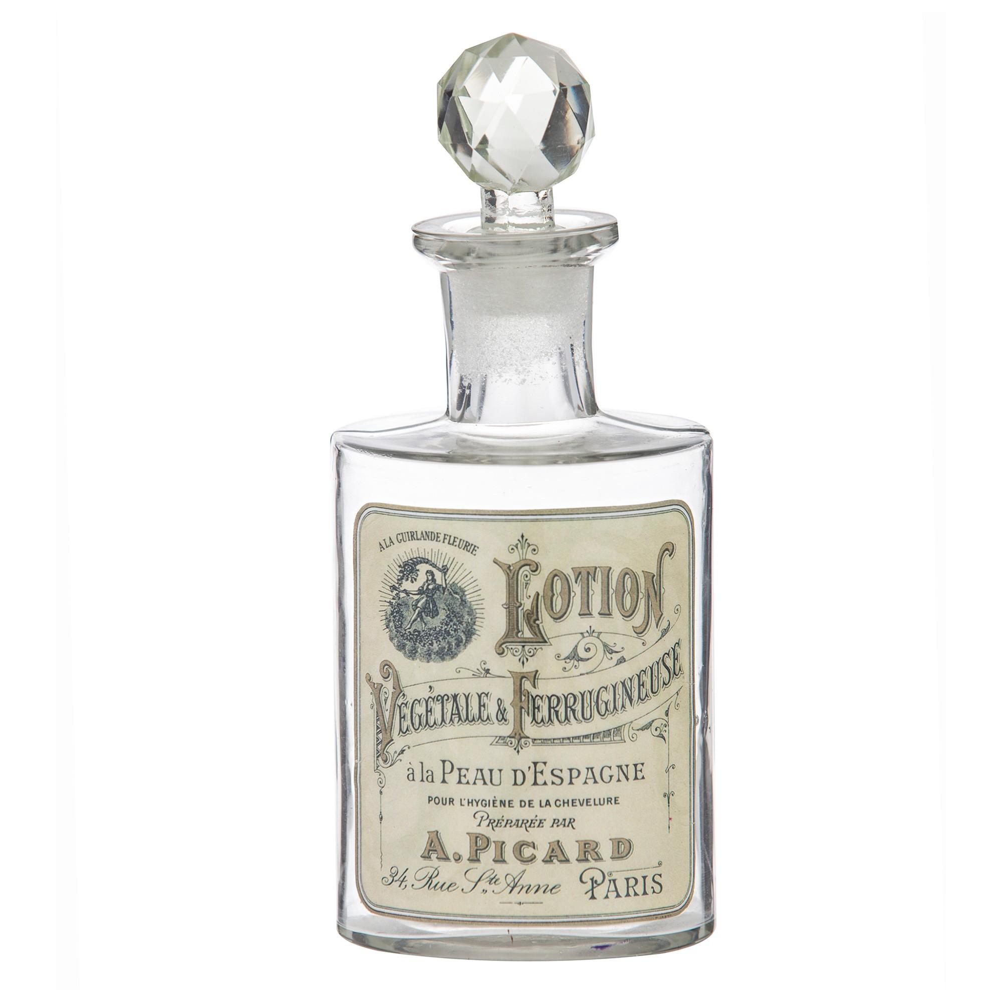 Saint Pierre Vintage Glass Apothecary Bottle, Lotion