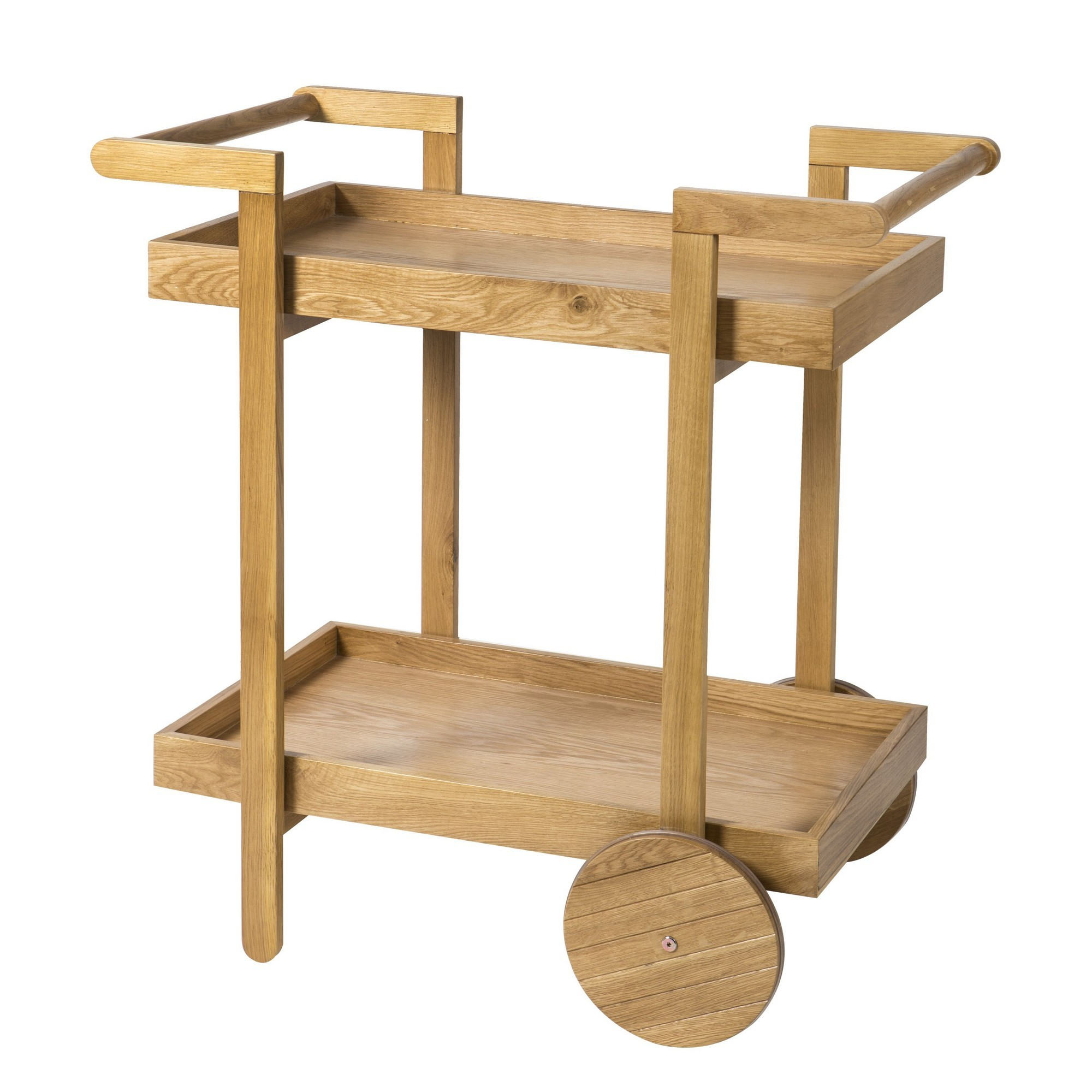 Hemsley Oak Timber Drinks Trolley