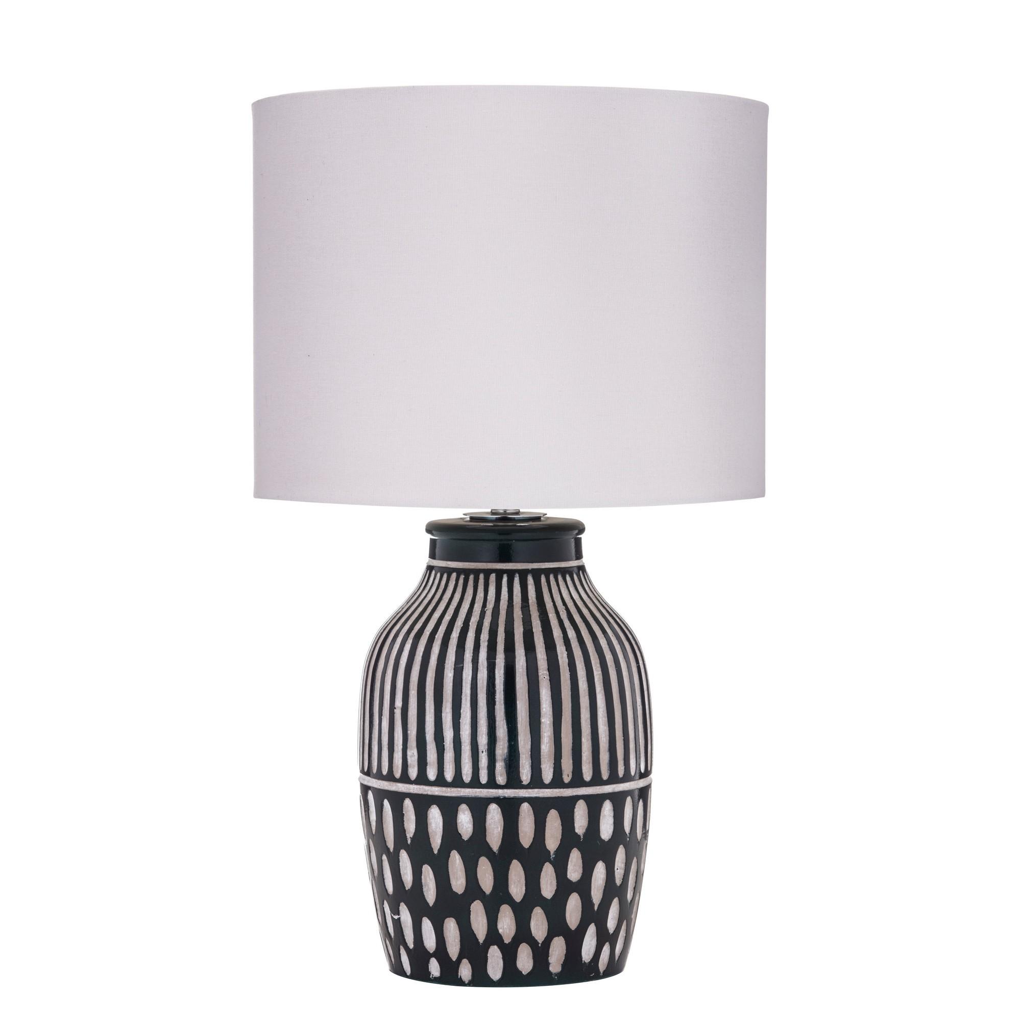 Bodil Ceramic Base Table Lamp, Dark Green