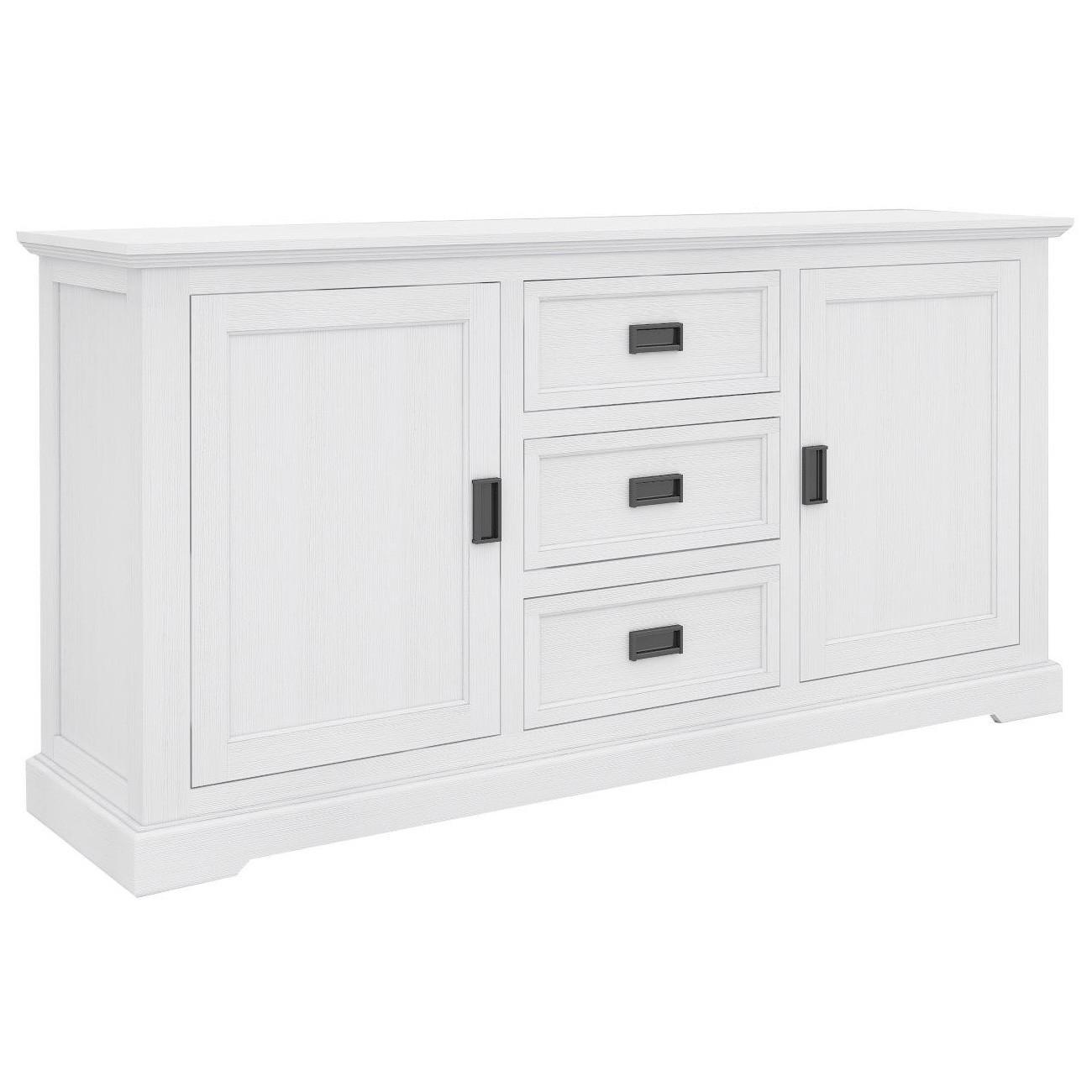 Narellan Acacia Timber 2 Door 3 Drawer Buffet Table, 166cm