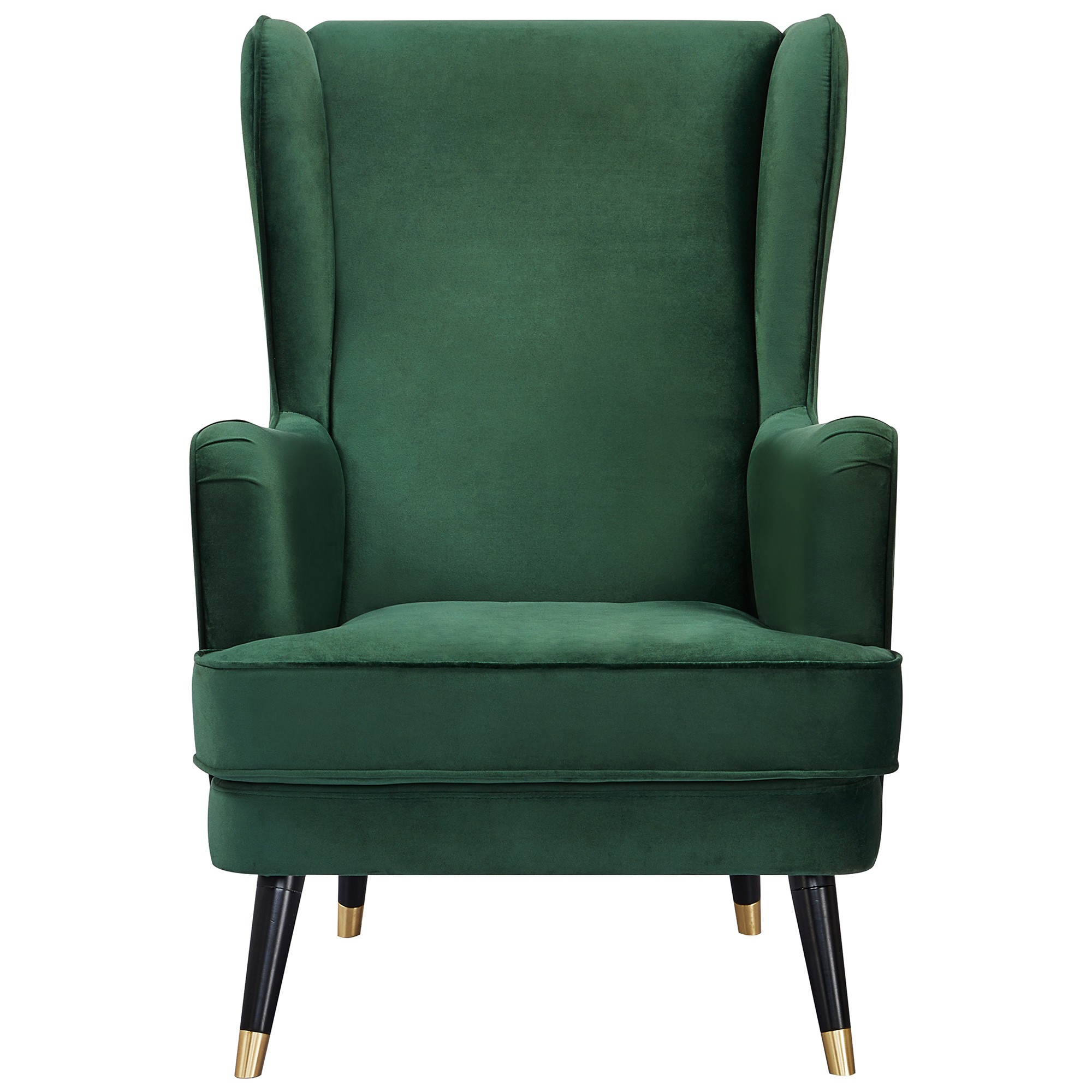 Balcombe Fabric Wing Back Armchair, Green