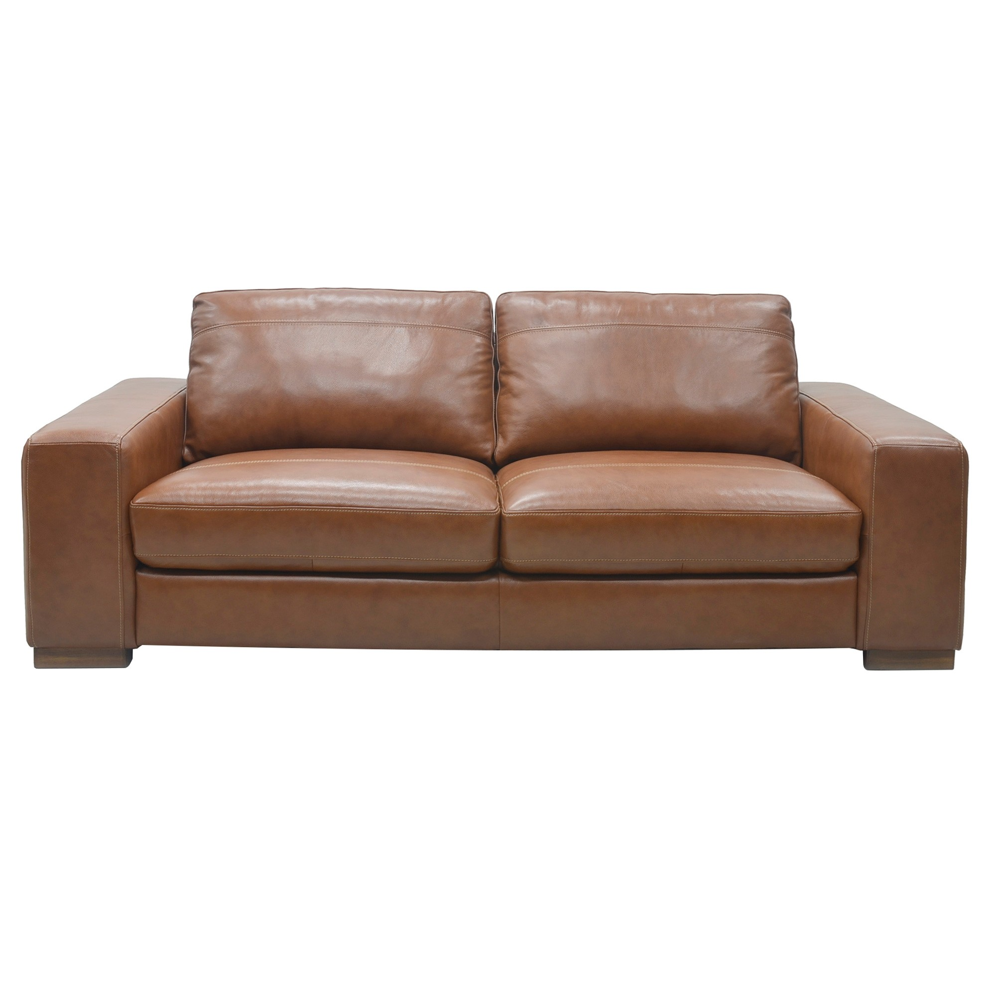 Belmont Leather Sofa, 3 Seater, Butterscotch