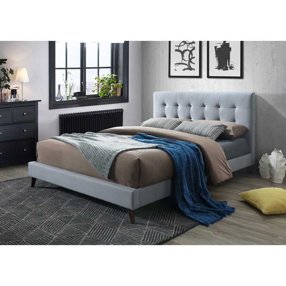 Paradox Fabric Bed, Queen, Light Grey
