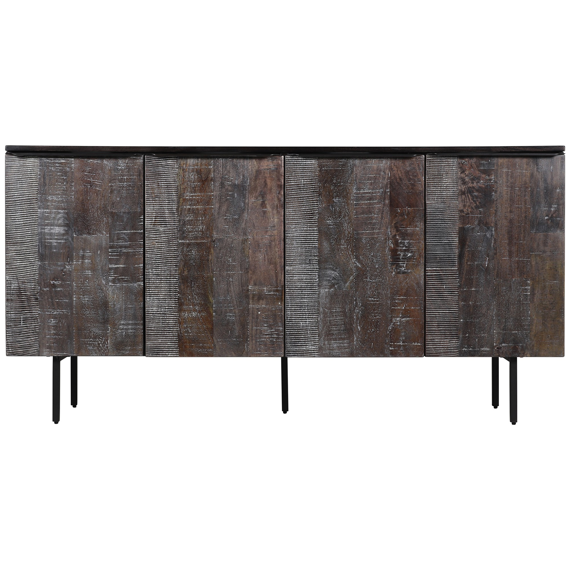 Oldbury Mango Wood 4 Door Sideboard, 162cm