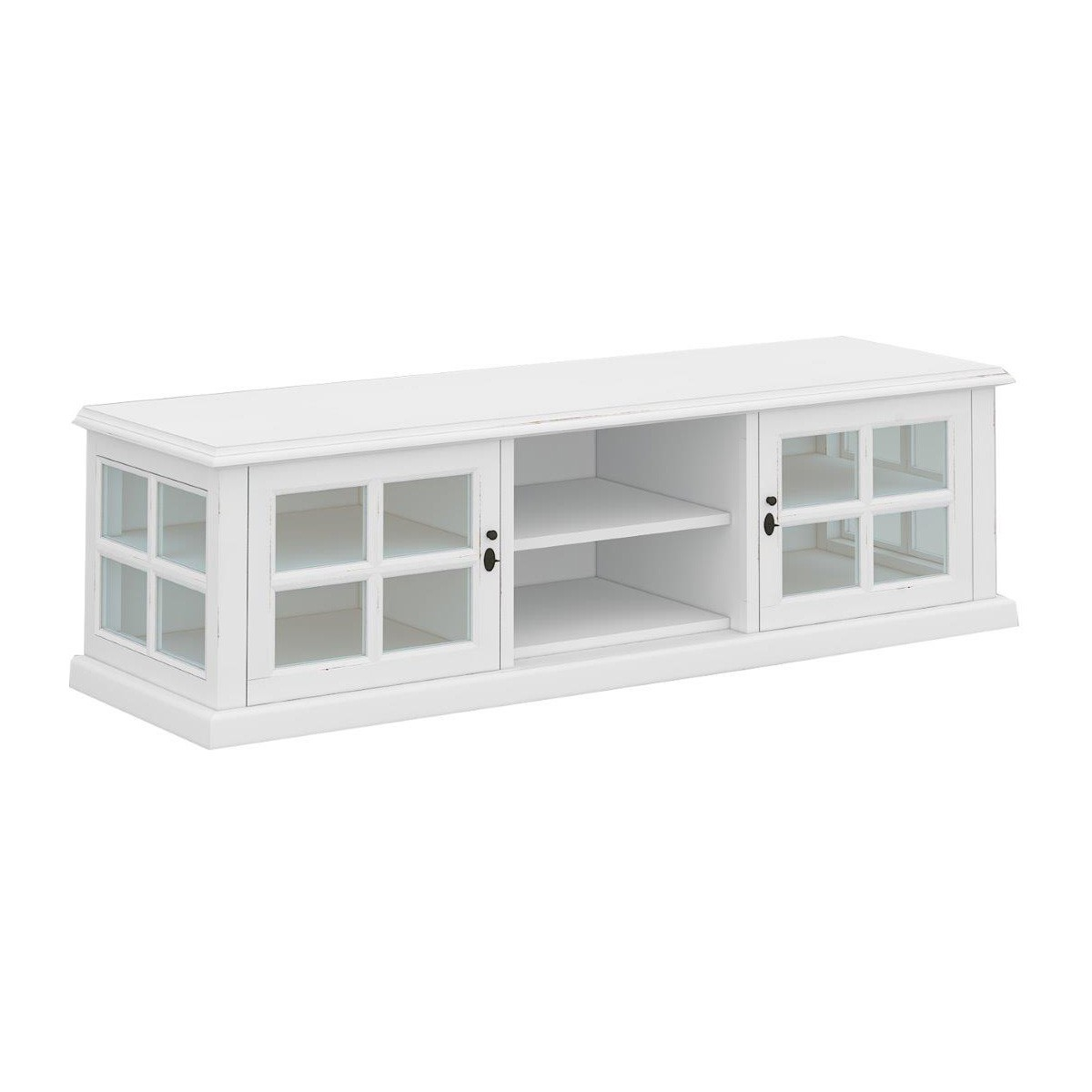 Tilbury Acacia Timber 2 Door TV Unit, 158cm, White