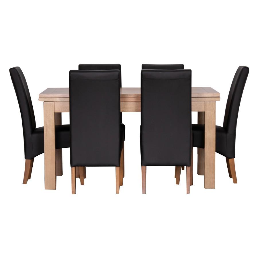 Conover 9 Piece Tasmanian Oak Timber Extendable Dining Table Set, 182-280cm