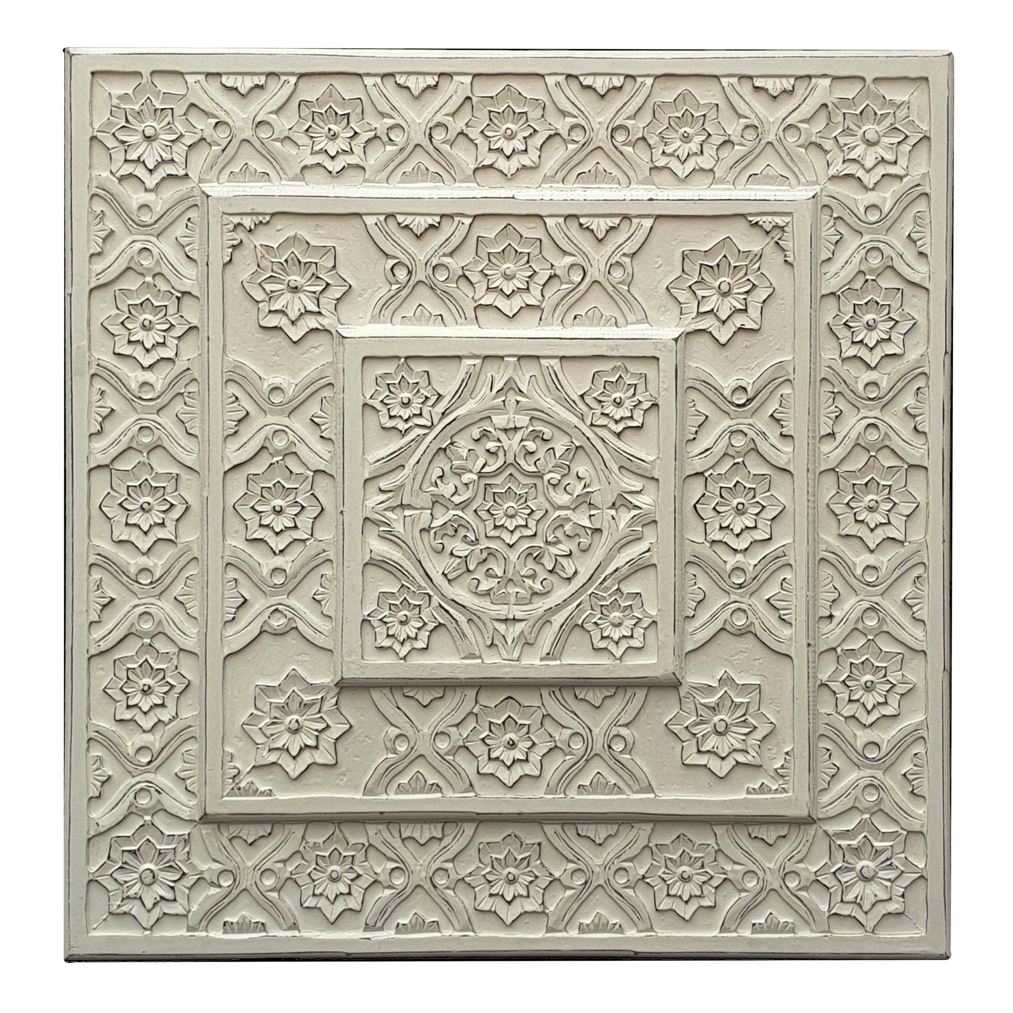 Indore Wooden Wall Art, 90cm, White
