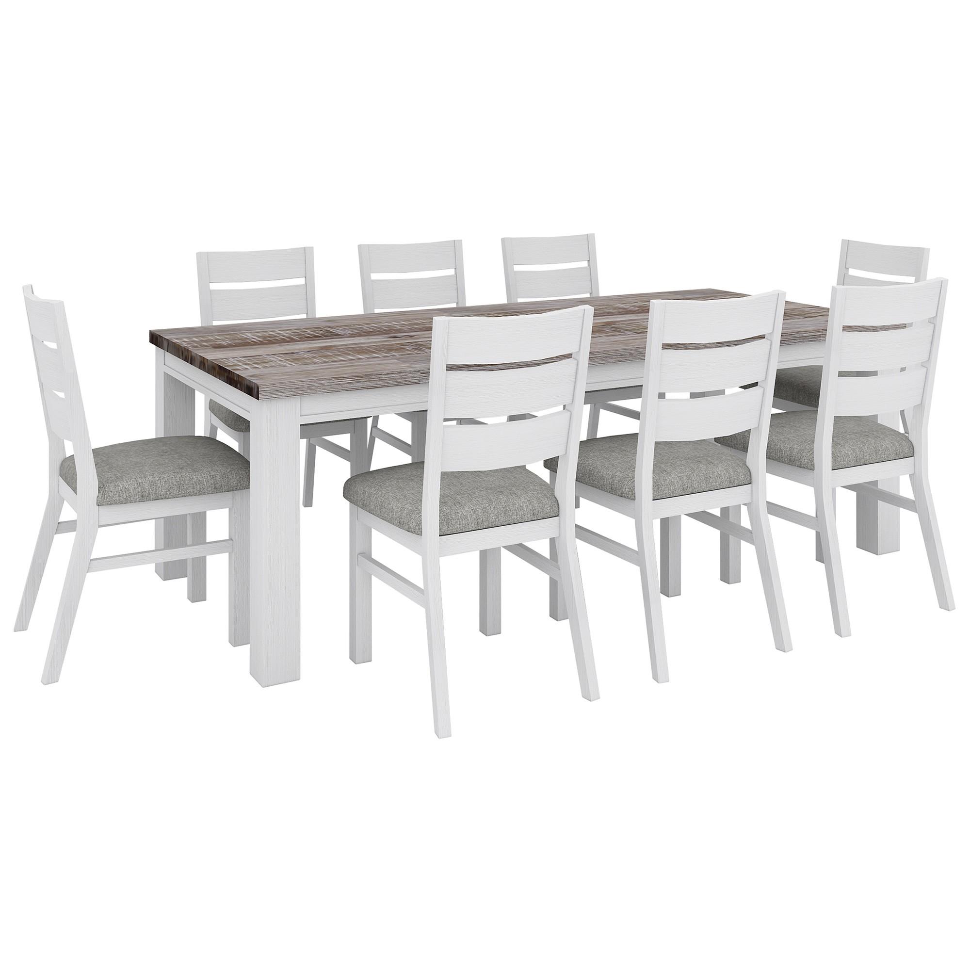 Nordington Acacia Timber 9 Piece Dining Table Set, 225cm