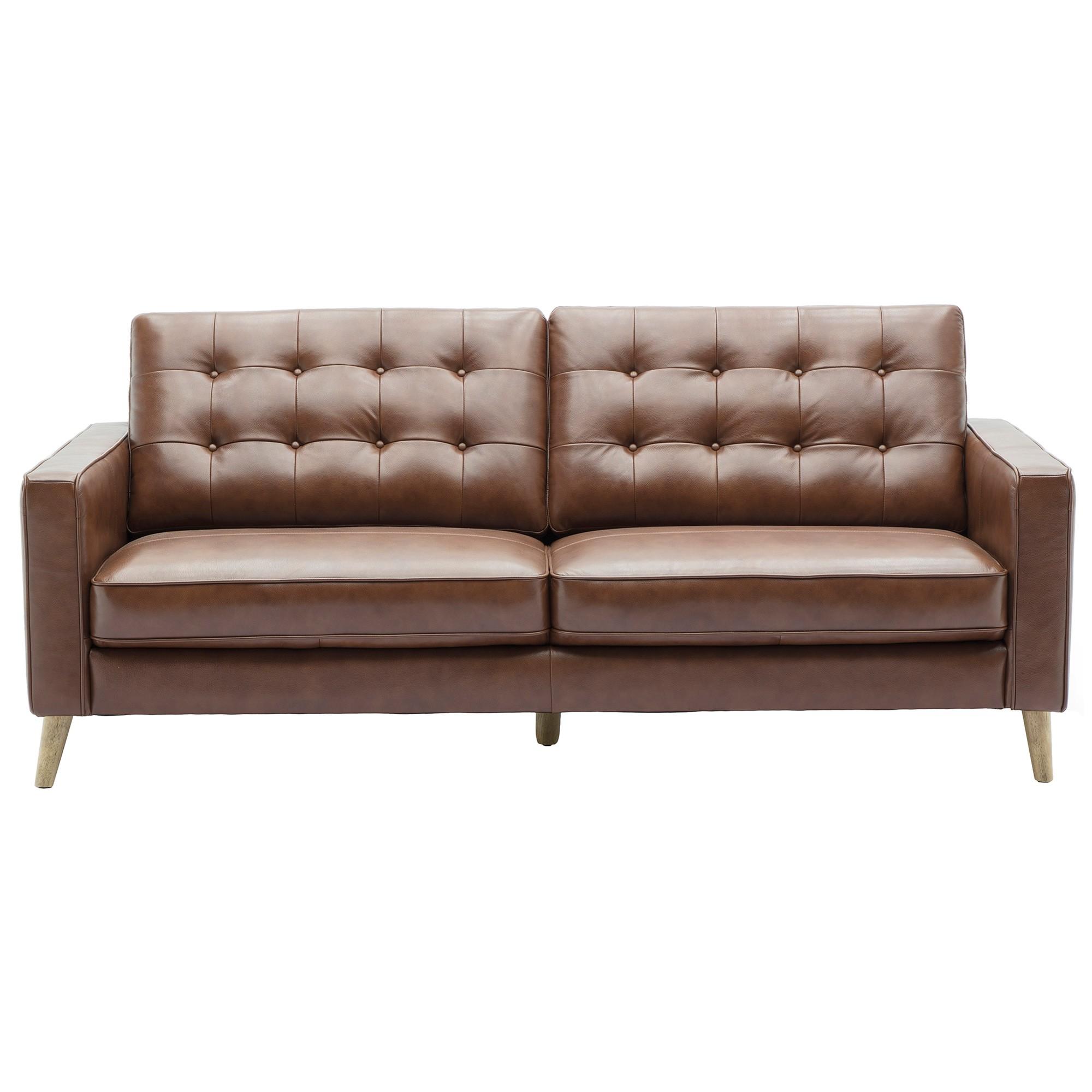 Loretta Leather Sofa, 2.5 Seater
