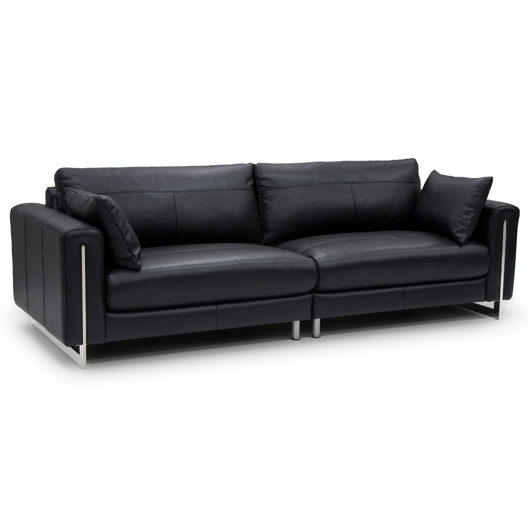 Conover Leather Sofa, 4 Seater