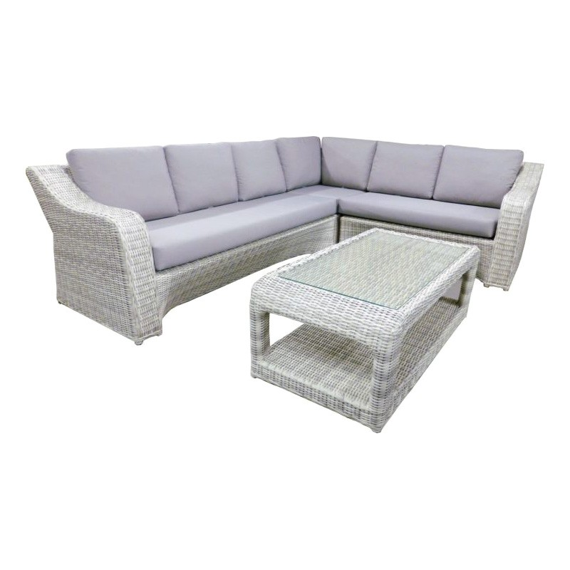 Tumbalong 4 Piece Outdoor Wicker Corner Lounge Set