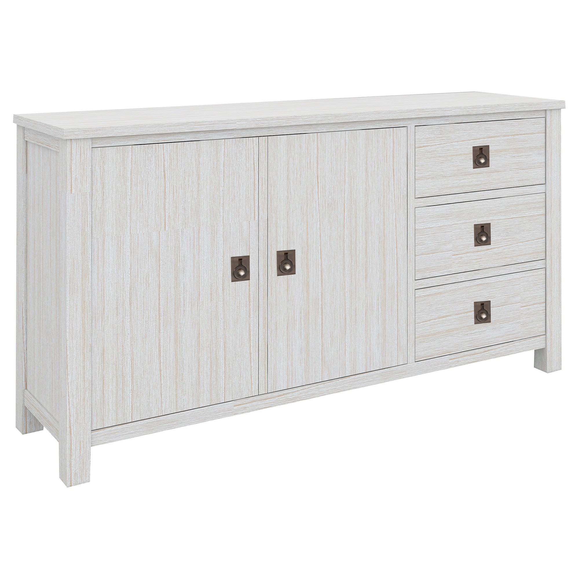 Cardiff Mountain Ash Timber 2 Door 3 Drawer Buffet Table, 155cm