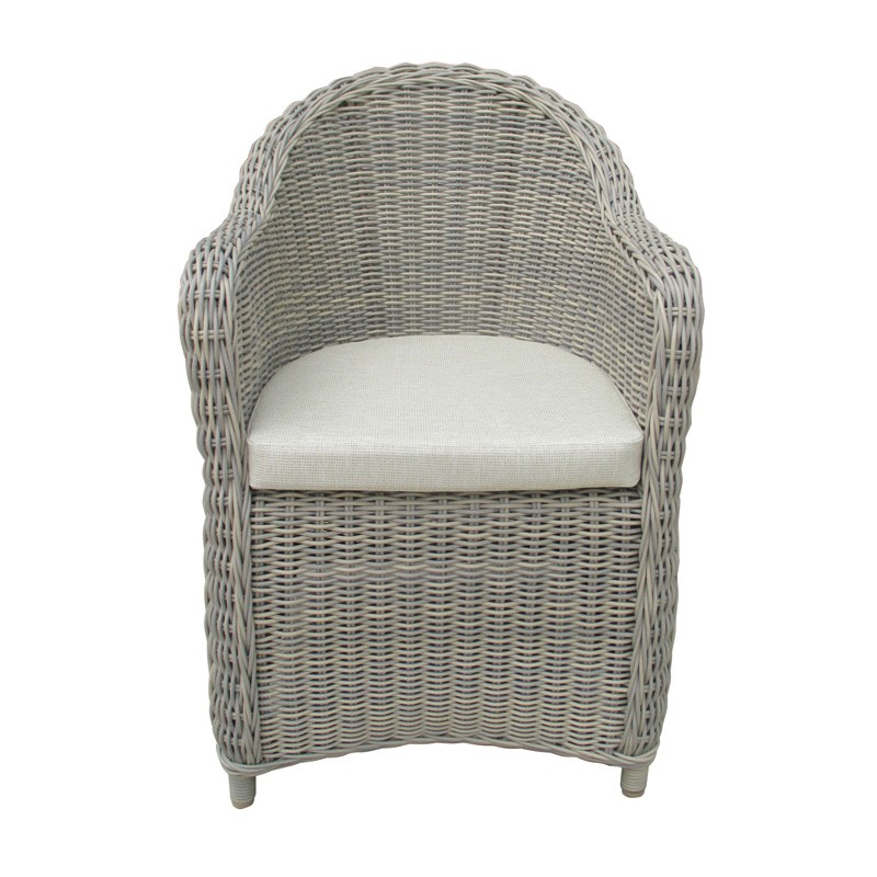 Kobo Outdoor Wicker Occasional Armchair, Khaki