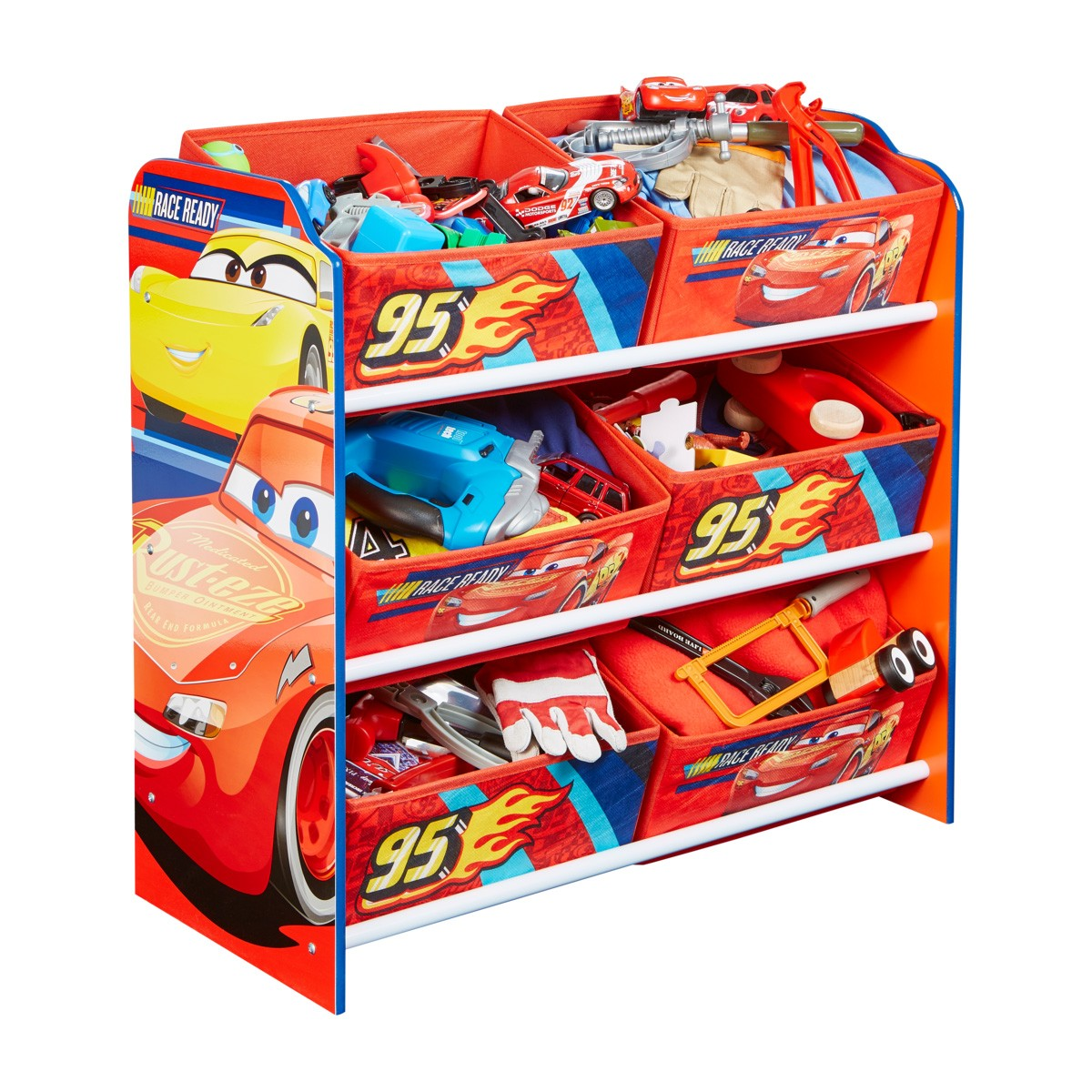 Worlds Apart Cars 6 Bin Storage Unit