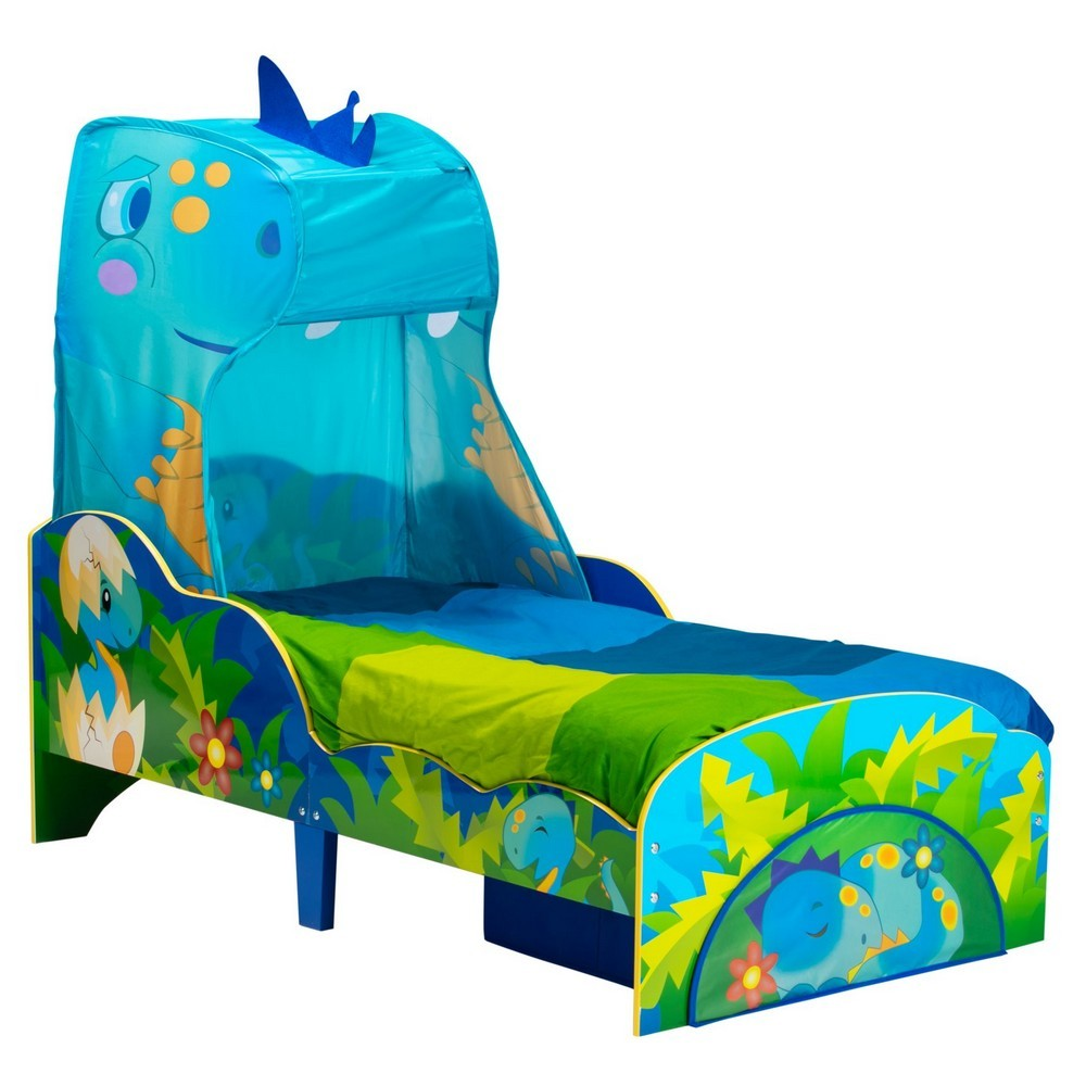 Worlds Apart Dinosaur Toddler Bed with Canopy & Storage