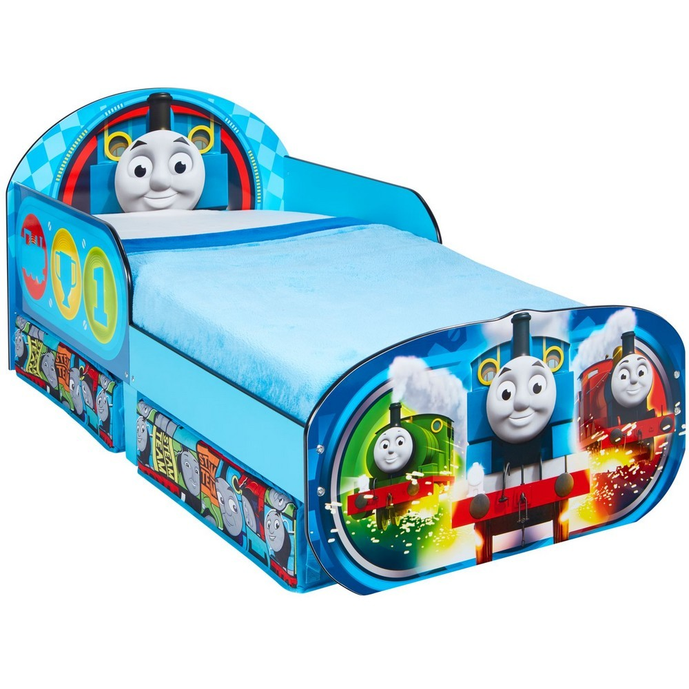 Worlds Apart Thomas & Friends Kids Toddler Bed with Storage