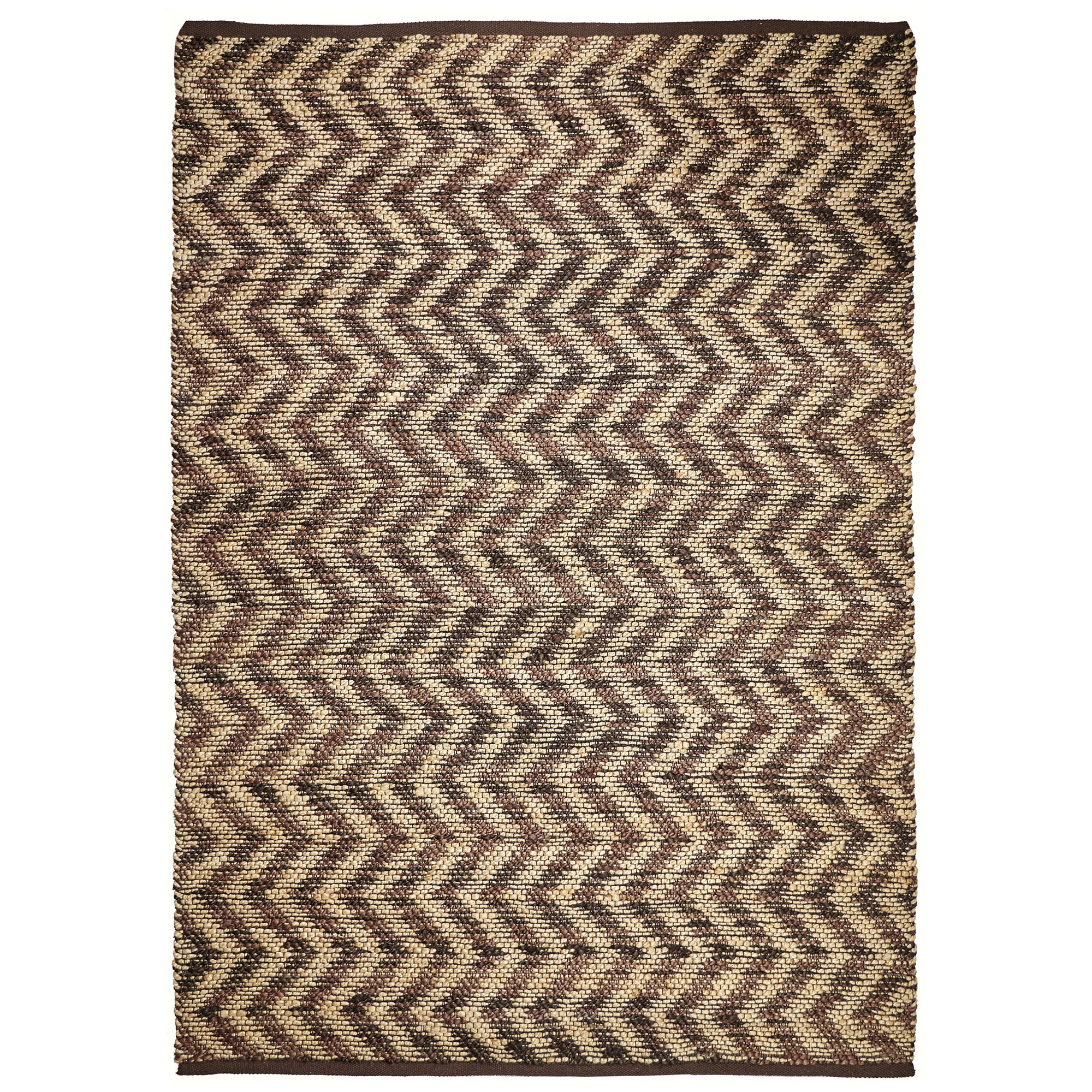 Waves Hand Knotted Jute Rug, 320x230cm, Brown