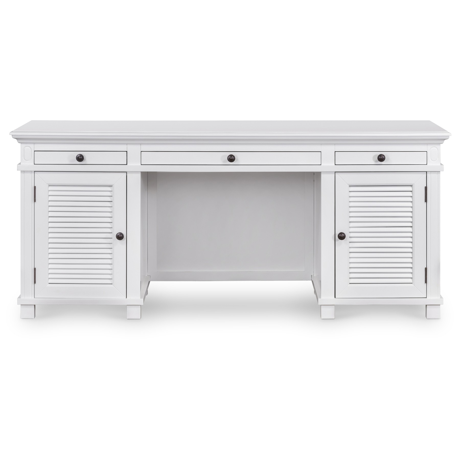West Beach Wooden Executive Desk, 180cm, White