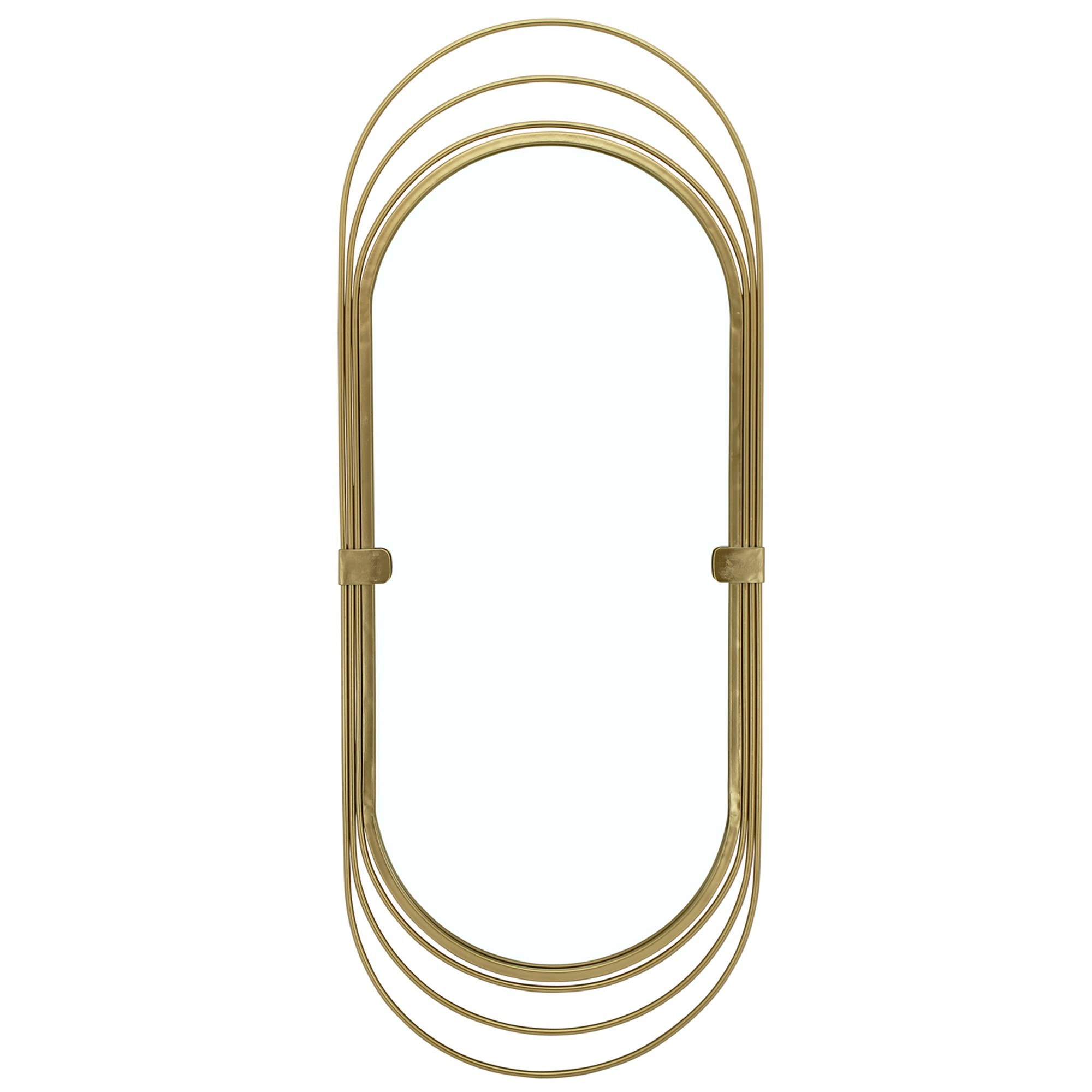 Abell Metal Frame Oval Wall Mirror, 91cm