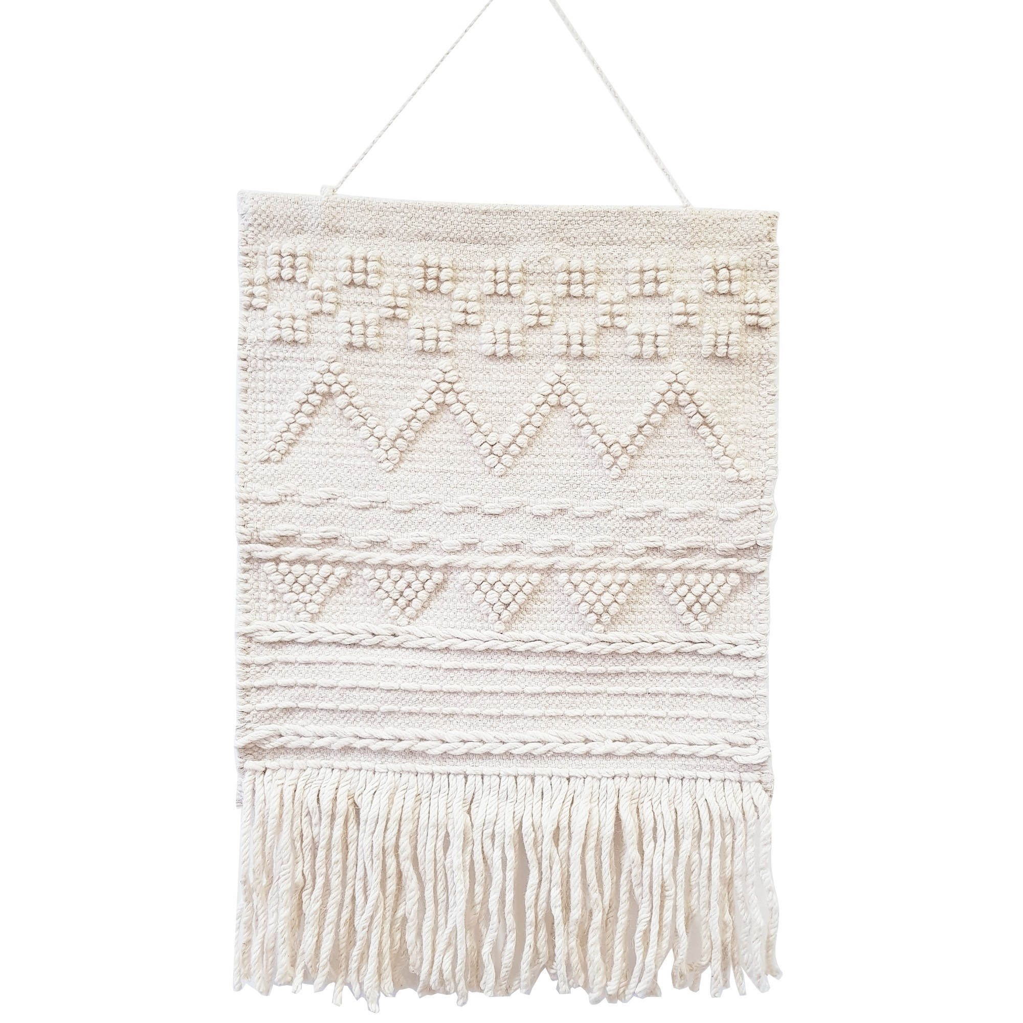 Wiley Handwoven Wool Macrame Wall Hanging