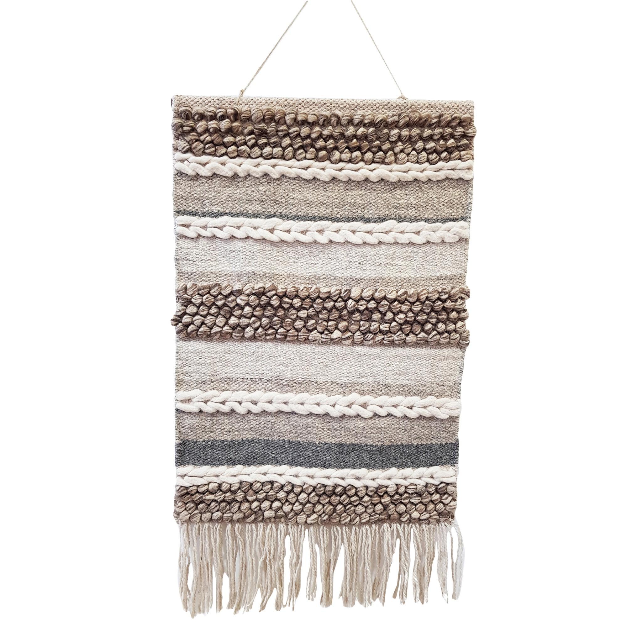 Blake Handwoven Wool Macrame Wall Hanging