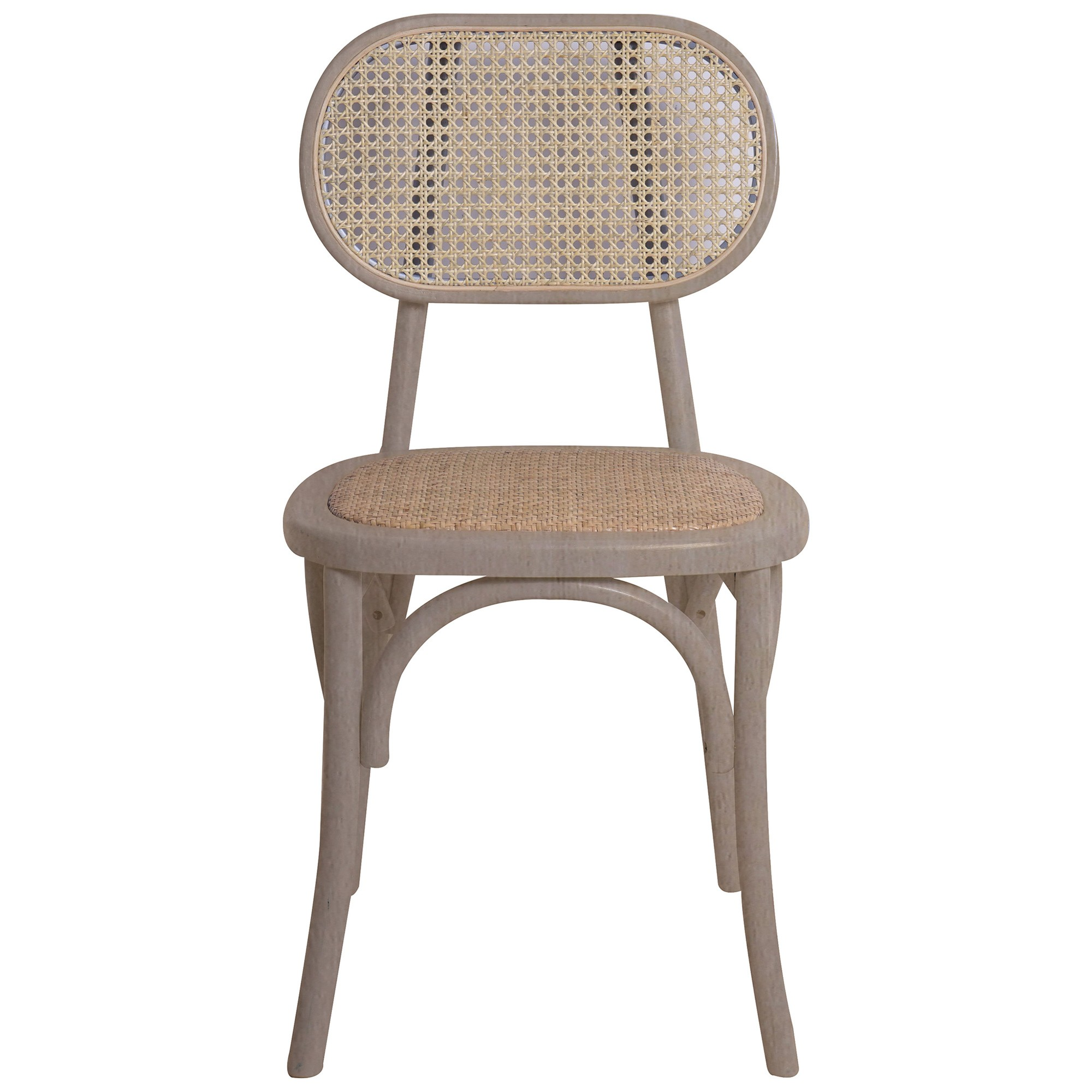 Kotara Beech Timber & Rattan Dining Chair, Natural