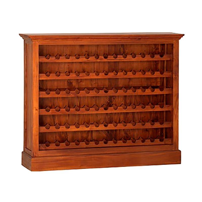 Boku Mahogany Timber Wine Rack, Large, Light Pecan