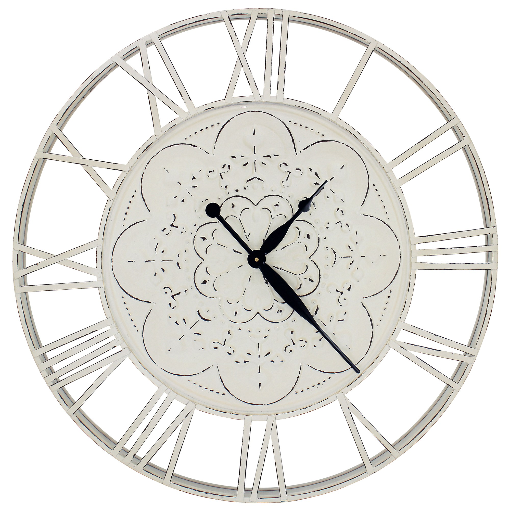 Nora Iron Round Wall Clock, 78cm