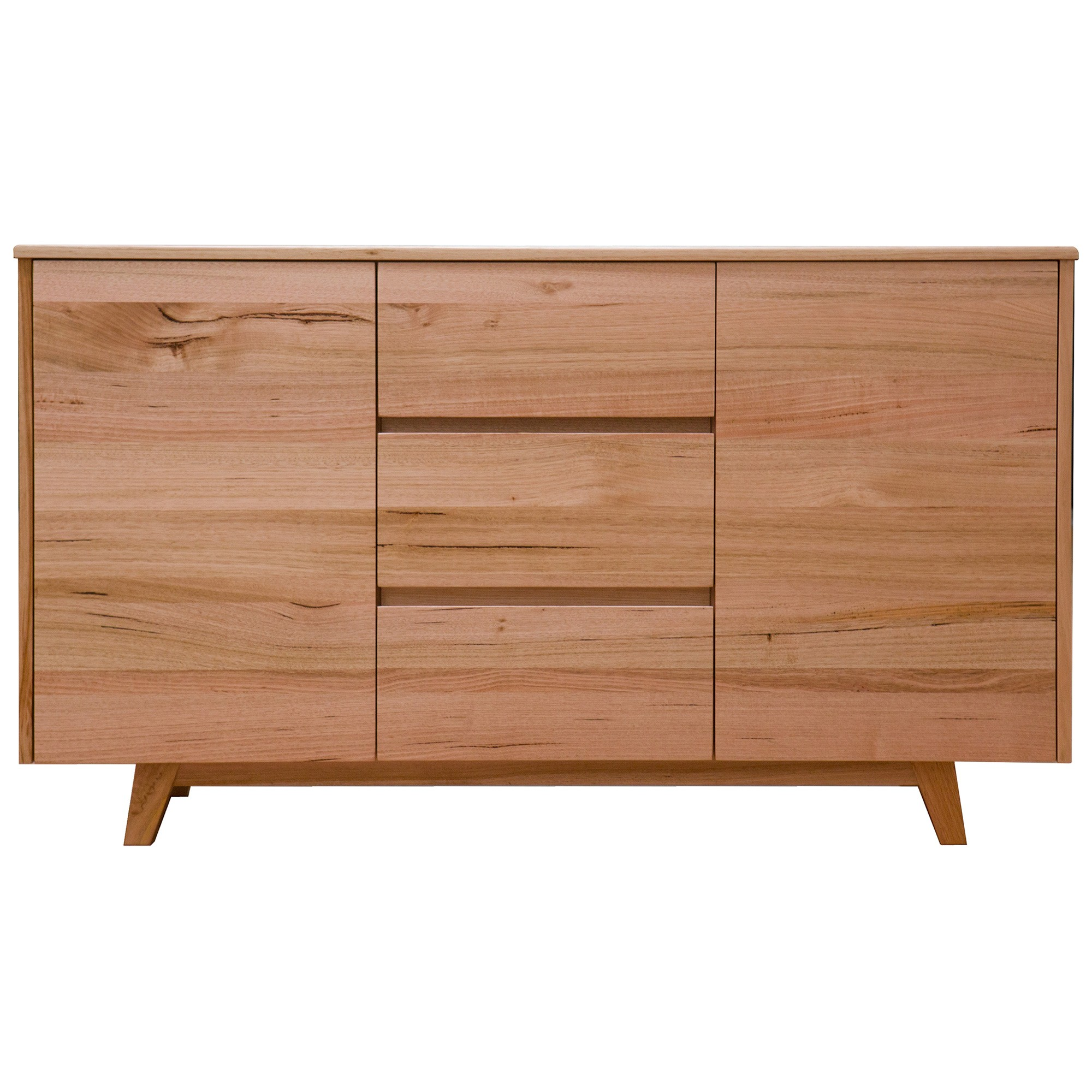 Wade Tasmanian Oak Timber 2 Door 3 Drawer Buffet Table, 150cm