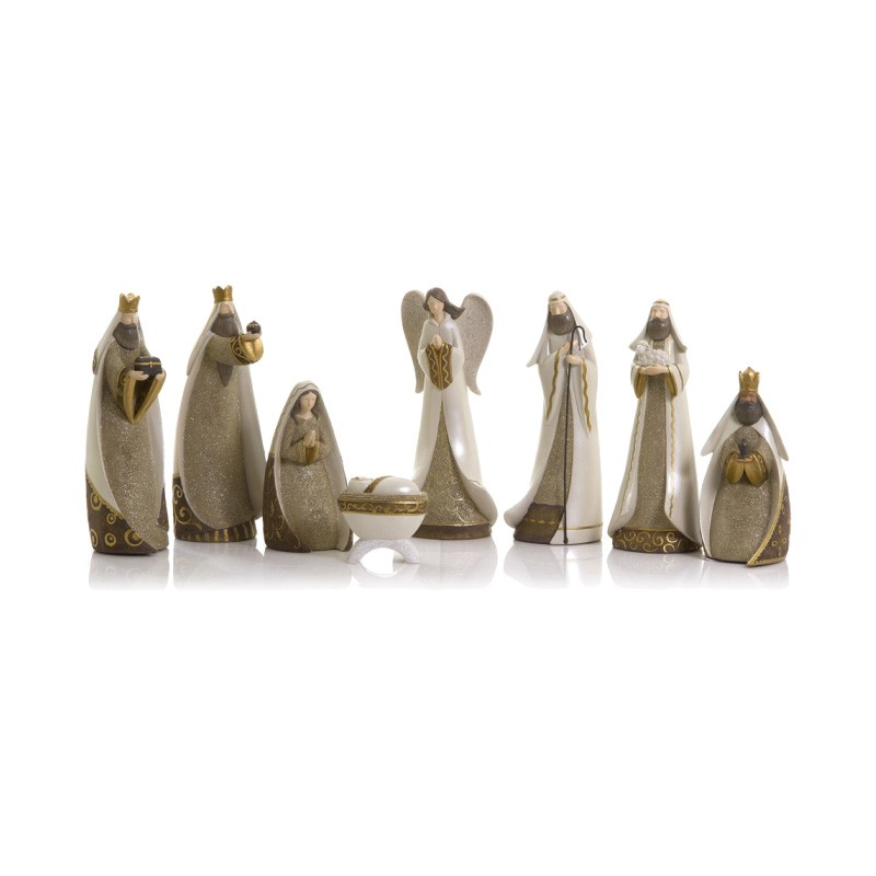 Jemimah 8 Piece Nativity Figurine Set