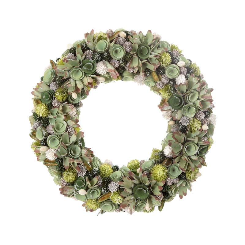 Bonita Mixed Sparkle Wreath, 55cm