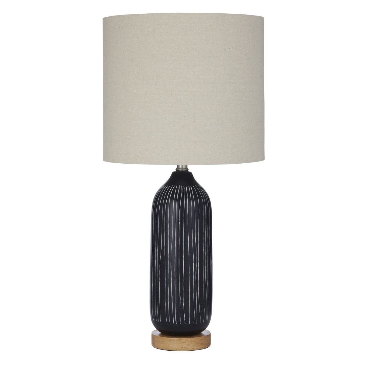 Everett Ceramic Base Table Lamp, Black