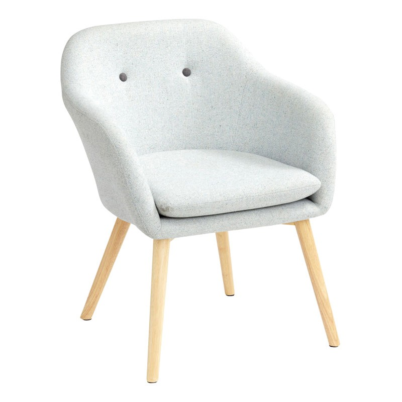 Marlo Fabric Armchair, Light Grey