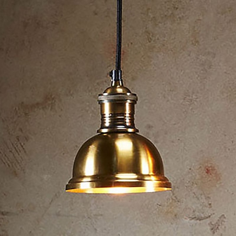 Bourke Metal Pendant Light, Medium, Antique Brass