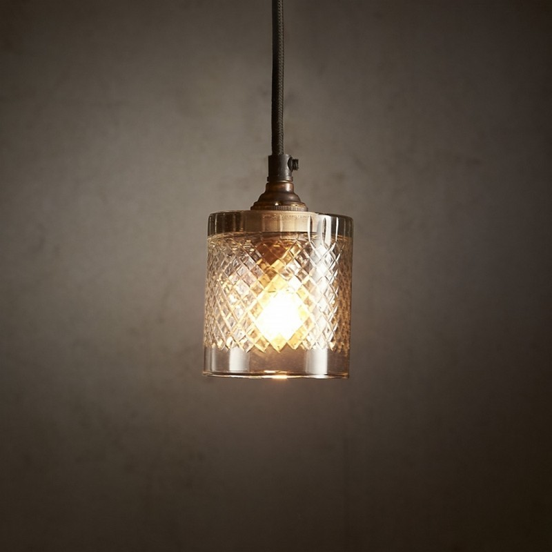 Scotch Cut Glass Glass Pendant Light, Victoria
