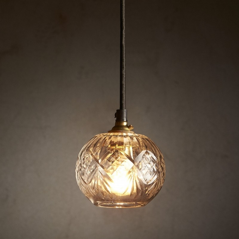 Stewart Cut Glass Pendant Light