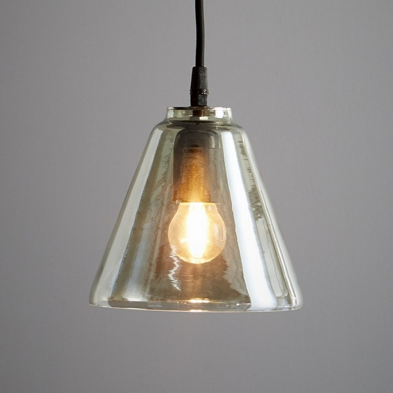 Cono Glass Cone Pendant Light