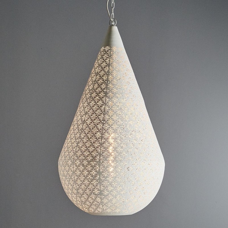 Europa Perforated Metal Pendant Light, Large