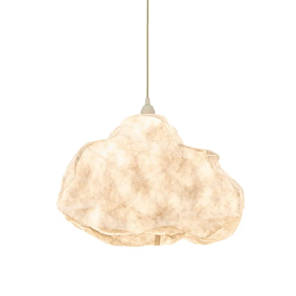 Cumulus Free Form Cloud Paper Pendant Light, White