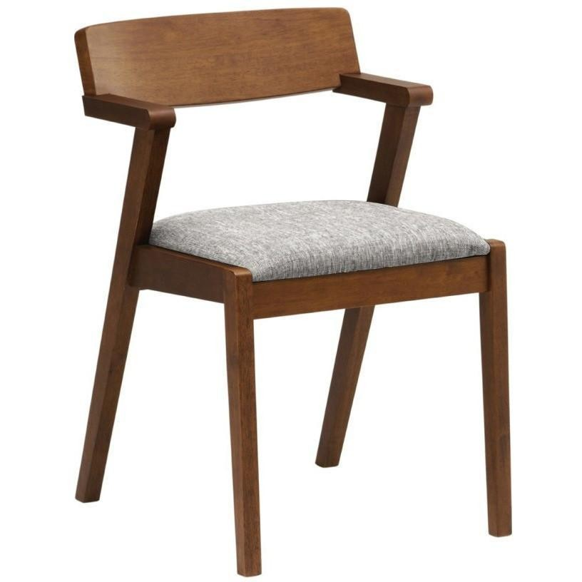 Zola Oak Timber Dining Chair, Cocoa / Pebble