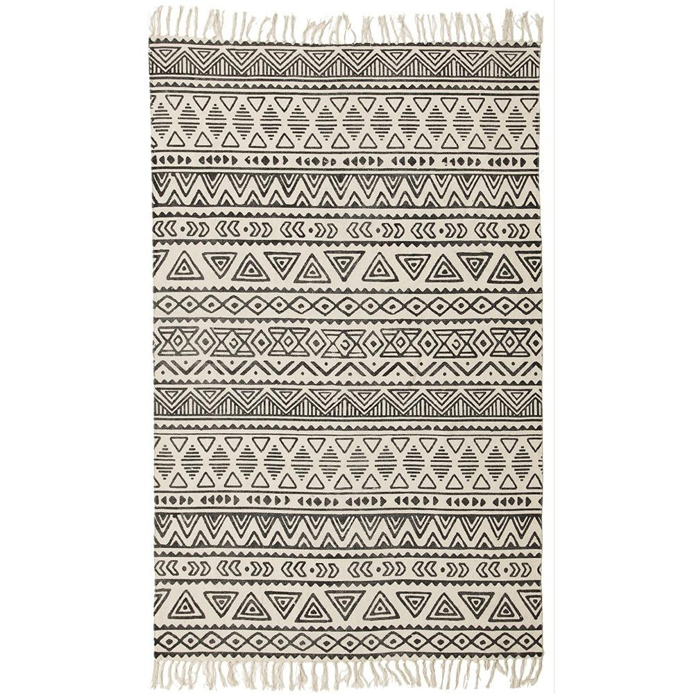 Totemic Unite Tribal Cotton Rug, 180x270cm, Ivory