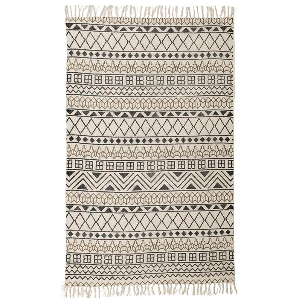 Totemic Shapes Tribal Cotton Rug, 150x220cm