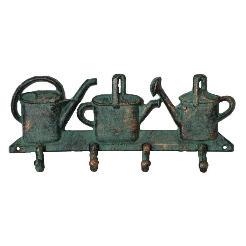 Water Can Cast Iron Wall Hook, Verdigris