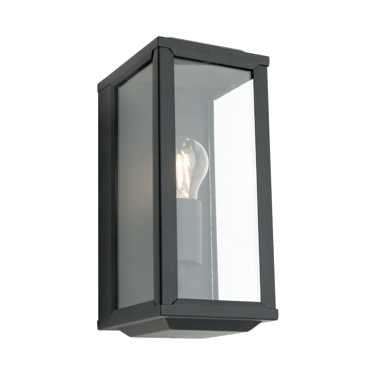 Anglesea Metal and Glass IP44 Outdoor Wall Light - Black