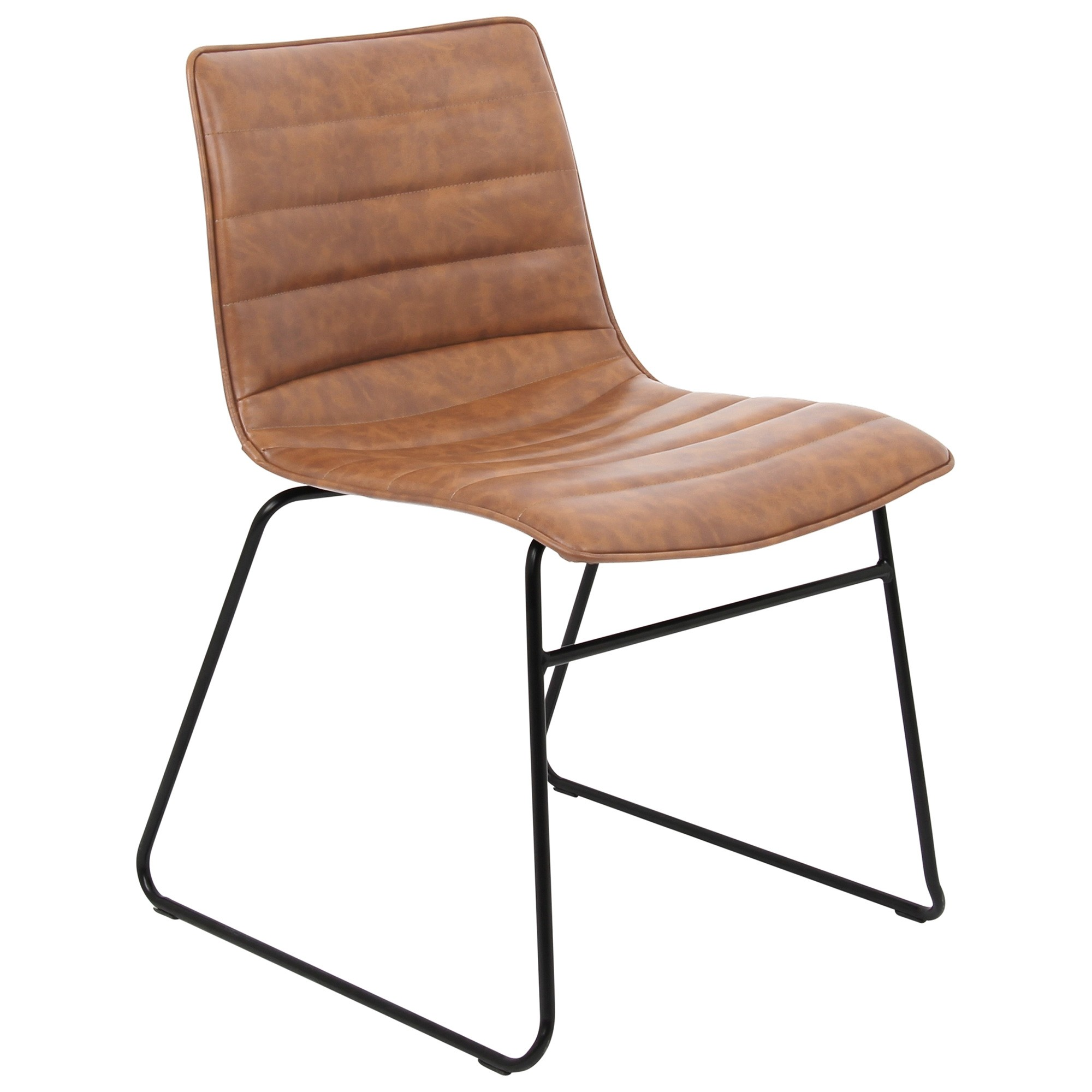Crosby PU Leather Dining Chair, Rust