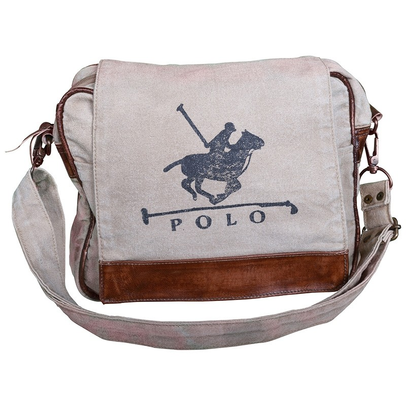 Polo Vintage Hand Made Canvas Messenger Bag
