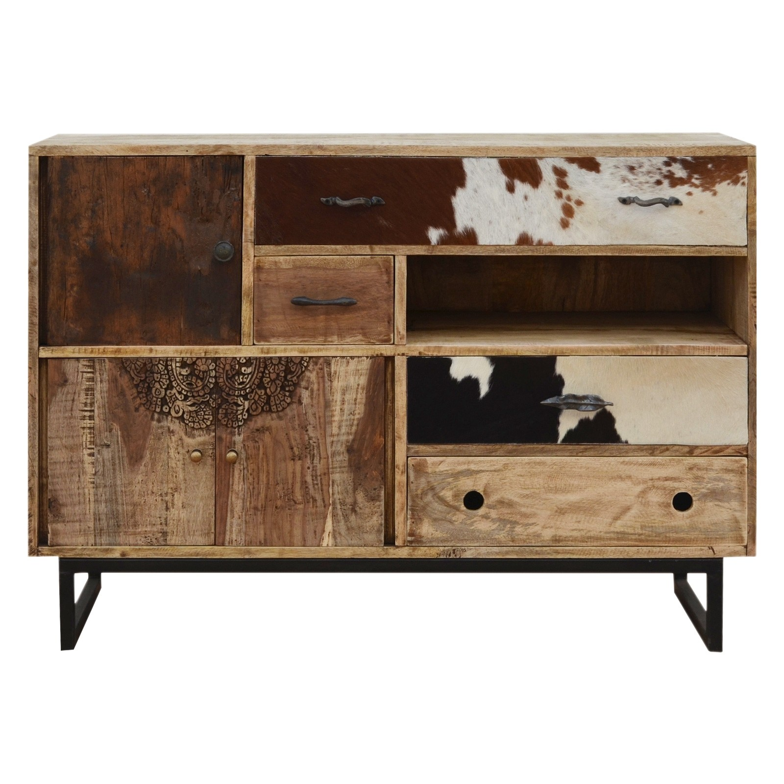 Eastwood Recycled Mango Wood Timber Multi Drawer Chest