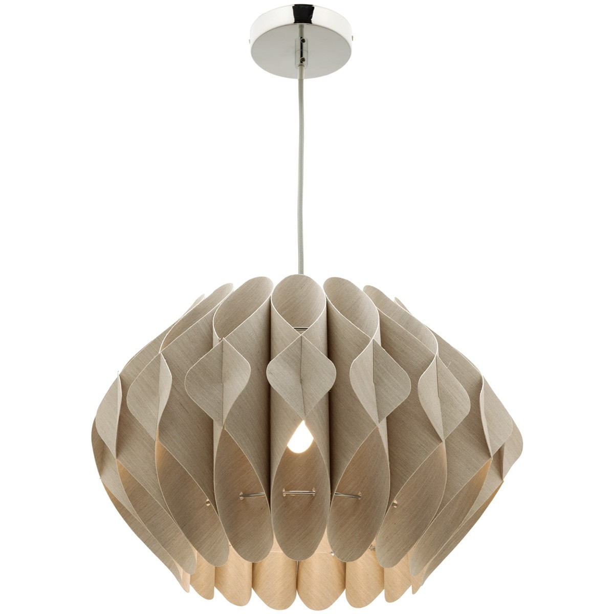 Missy 1 Light Fabric Pendant Light, Large