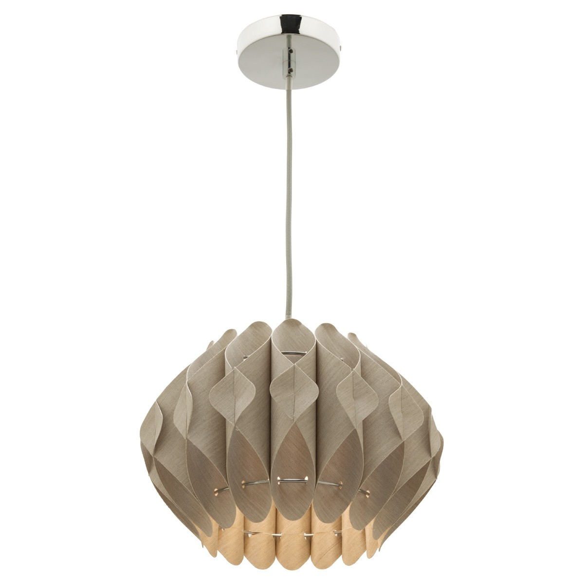 Missy 1 Light Fabric Pendant Light, Small